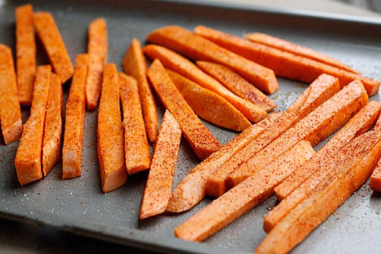 Flame Grilled BBQ Sweet Potato Fries